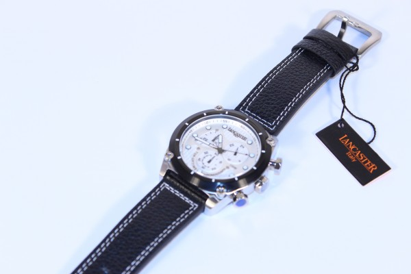 Lancaster Herren Chronograph mit Leederarmband OLA0380L/BN