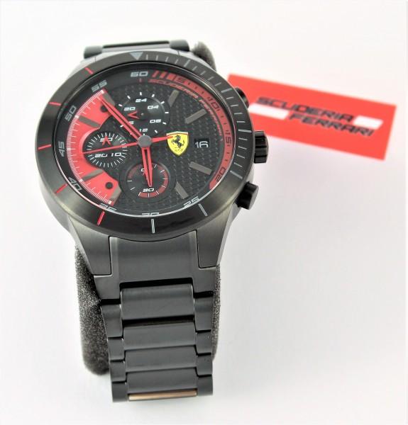 Scuderia Ferrari Herrenuhr Chronograph 0830264 Red Rev Evo black