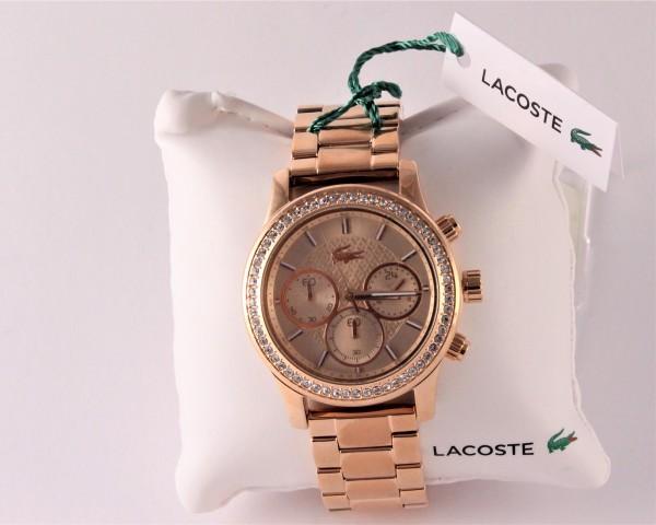 Lacoste Damenuhr Chronograph Charlotte 2000834 roségoldfarbe
