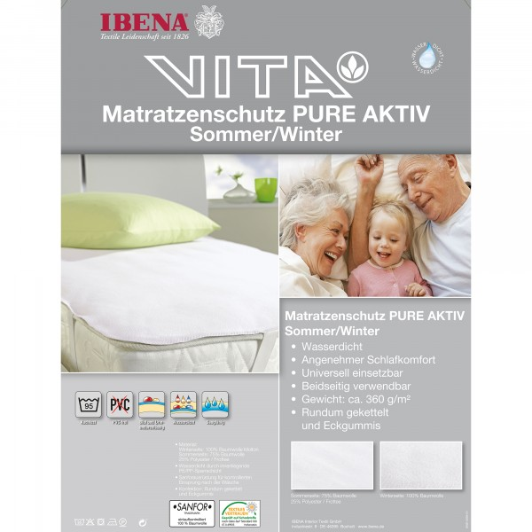 Matratzenschutz PURE Aktiv Sommer-Winter 2366